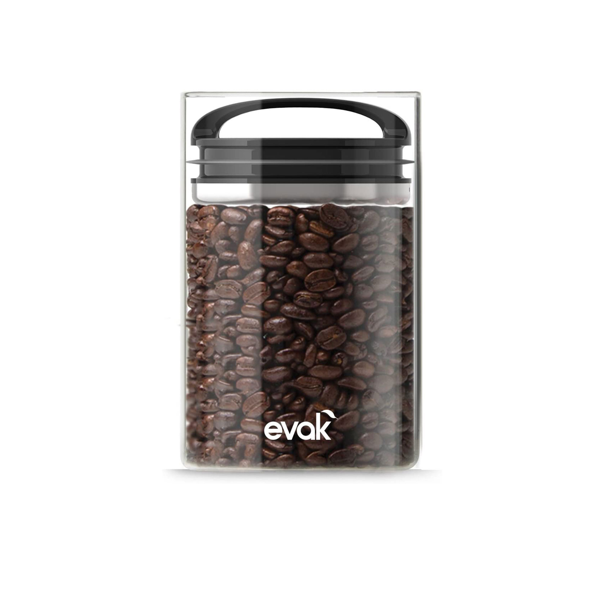 glass container with coffee beans