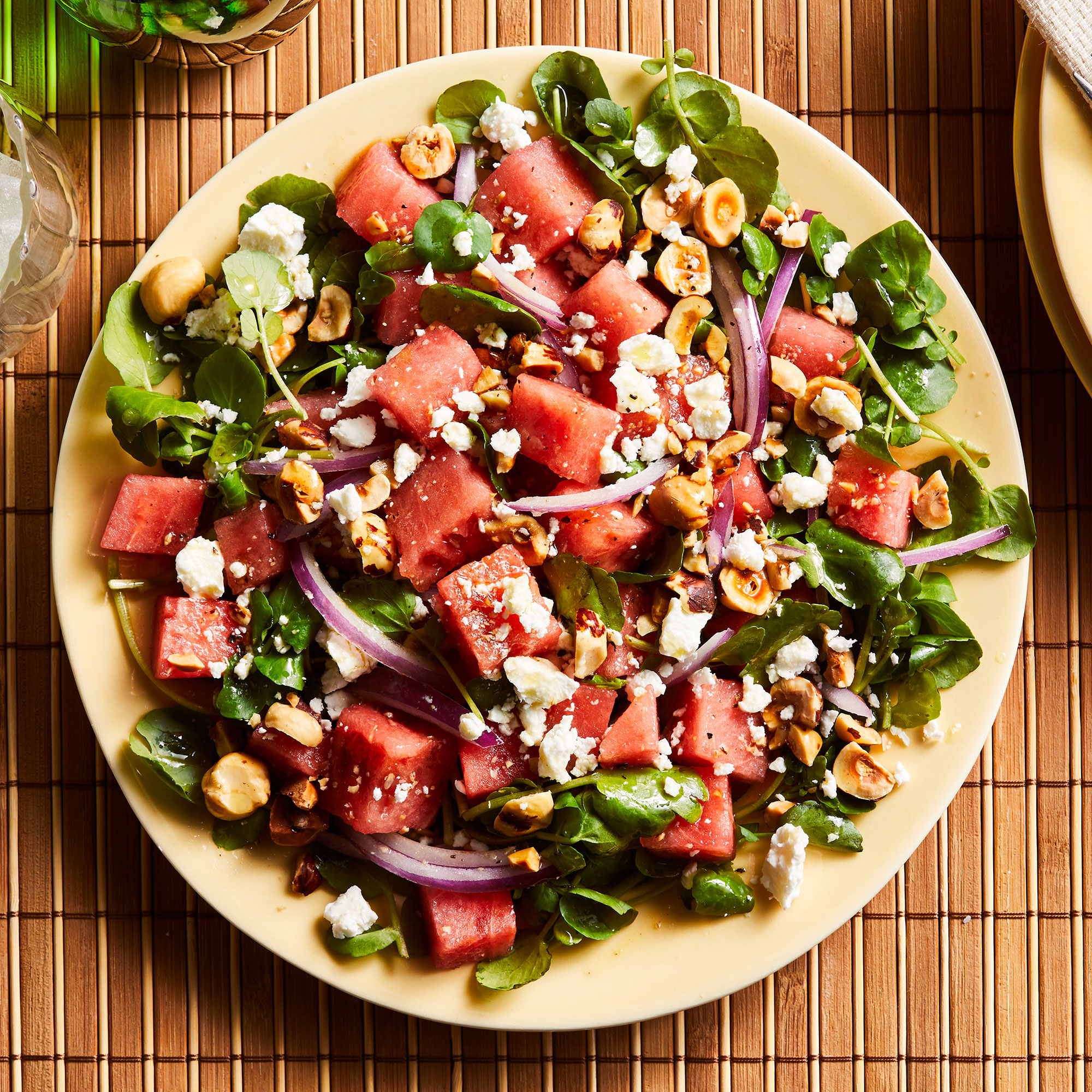 Watermelon & Goat Cheese Salad with Citrus Vinaigrette