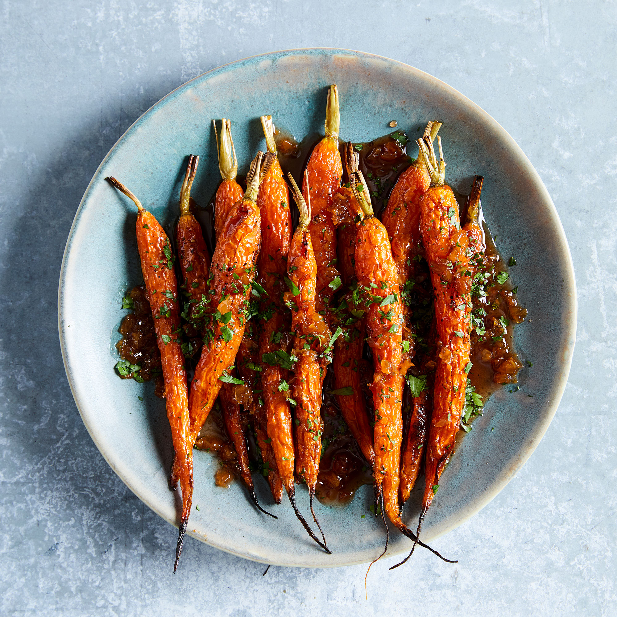 Roasted Spring Carrots in Agrodolce