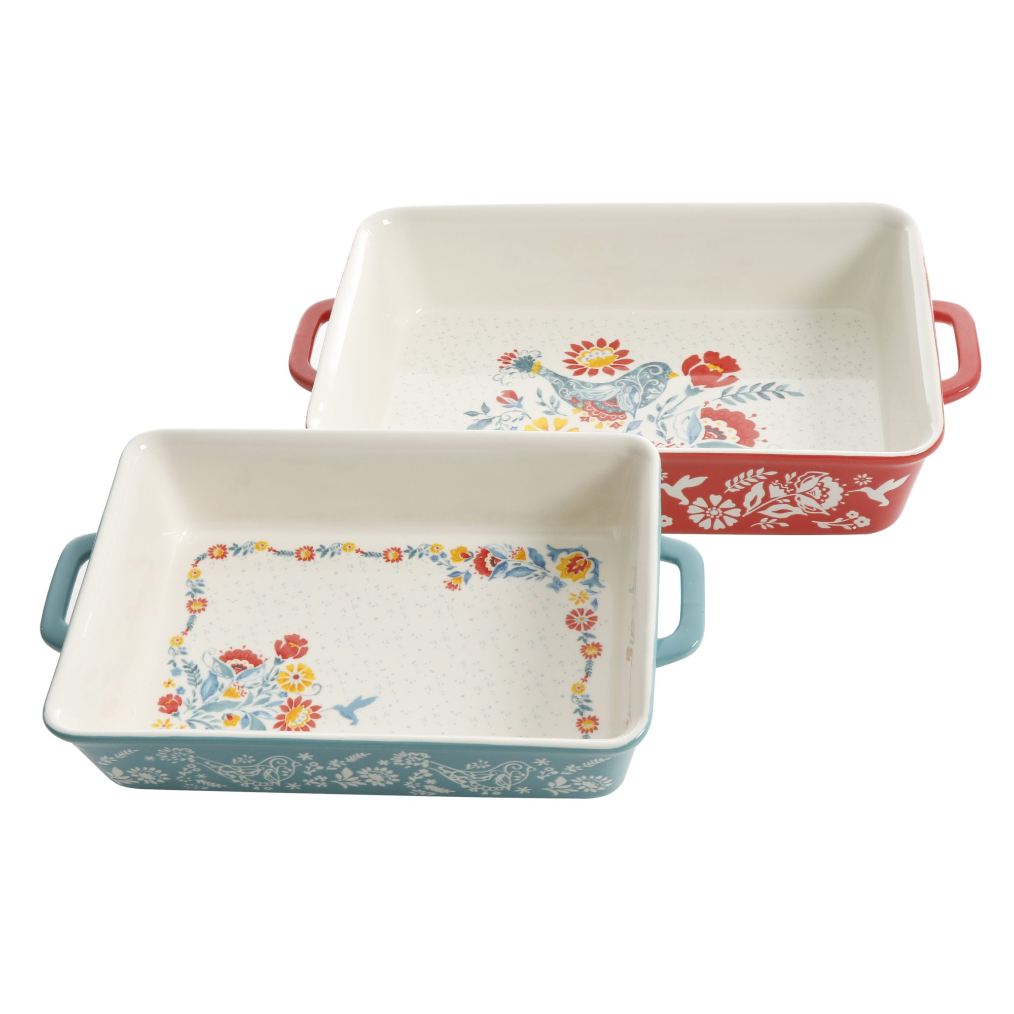 two baking dishes