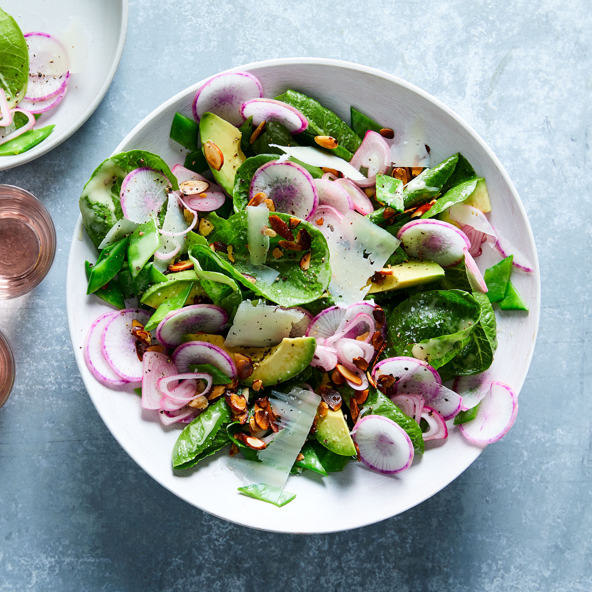 Spring Salad with Pickled Shallot & Avocado