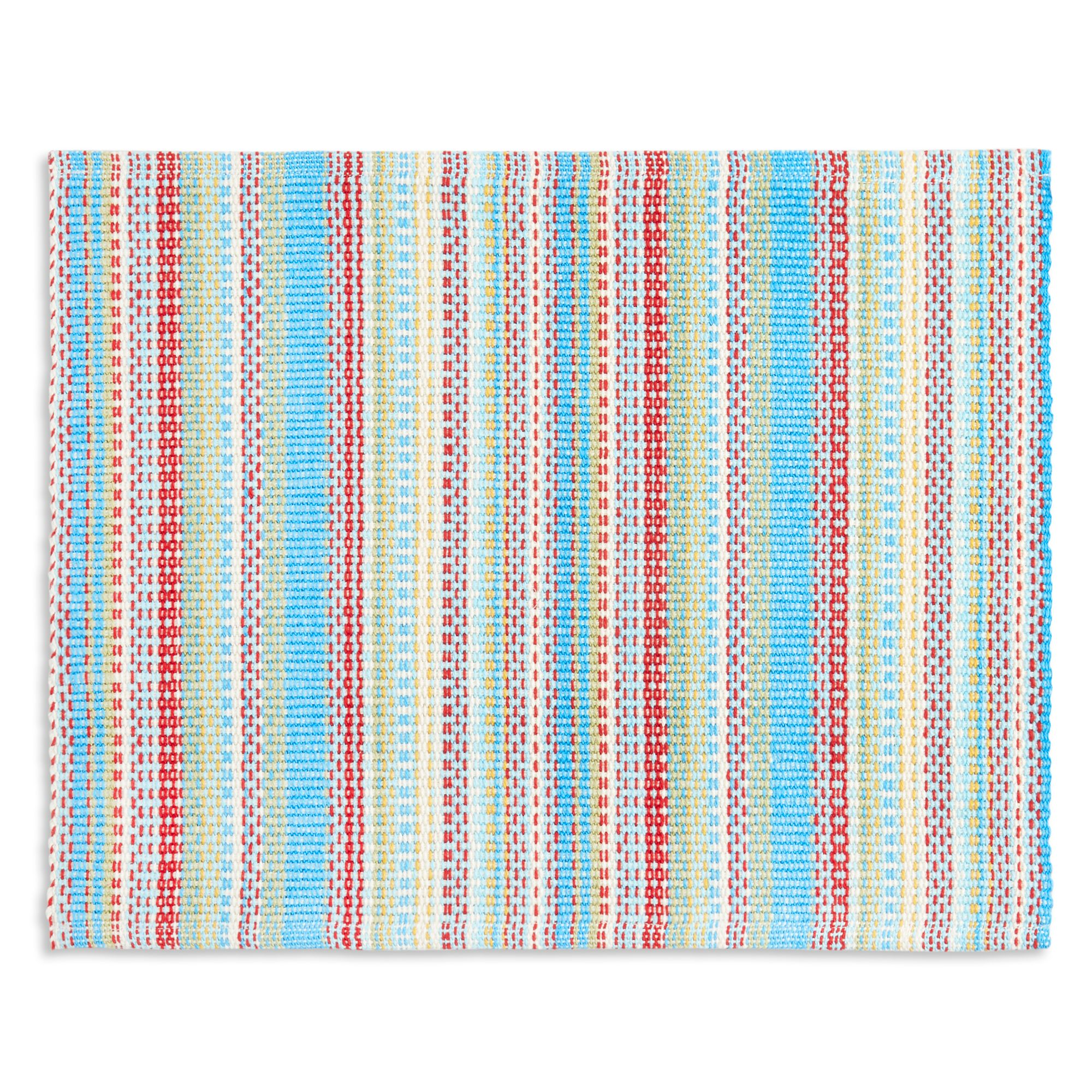 placemat with colorful stripes