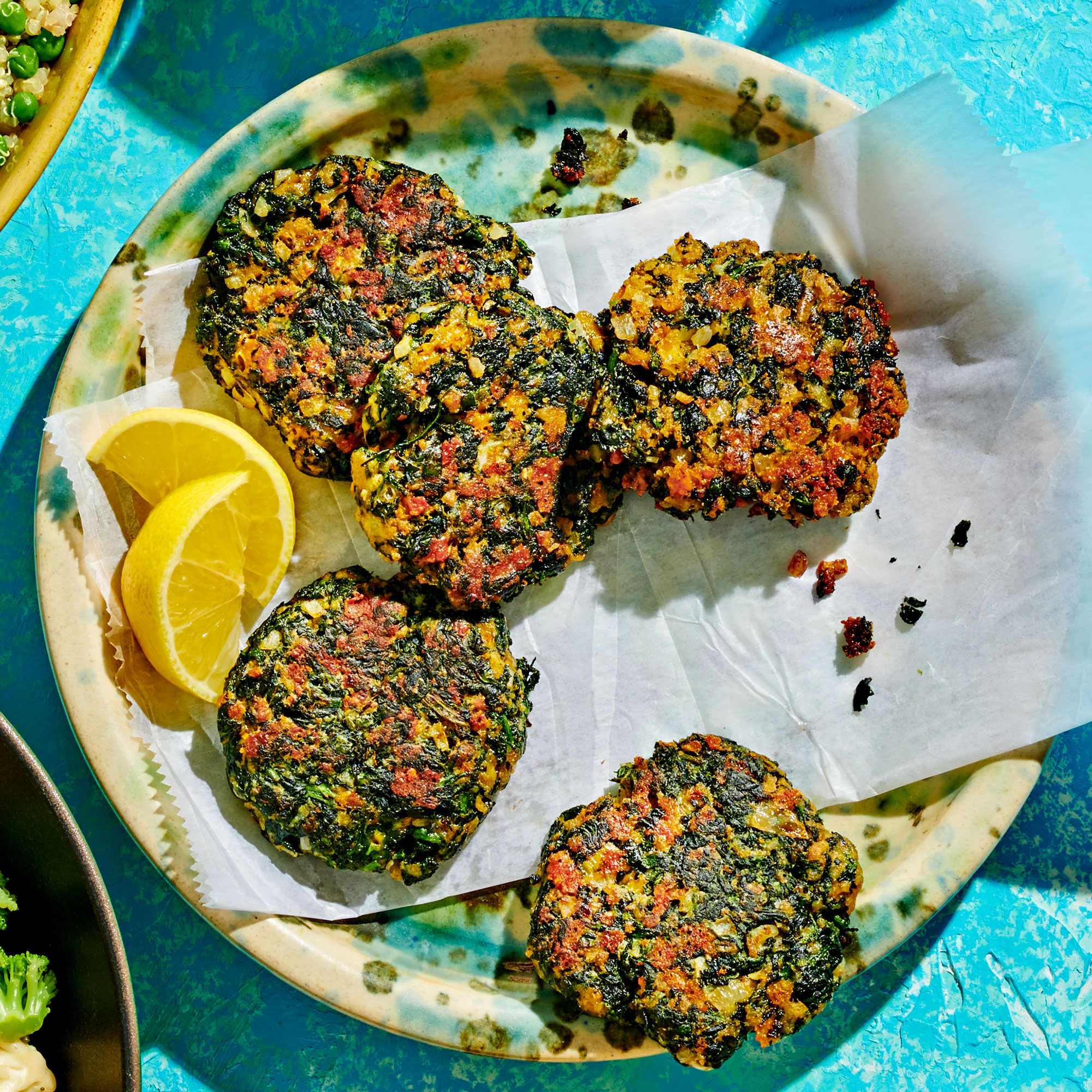 Cheesy Spinach Fritters