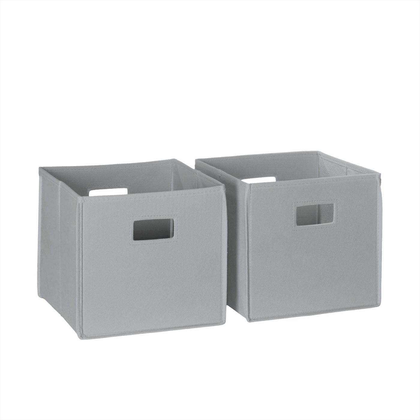 two gray bins