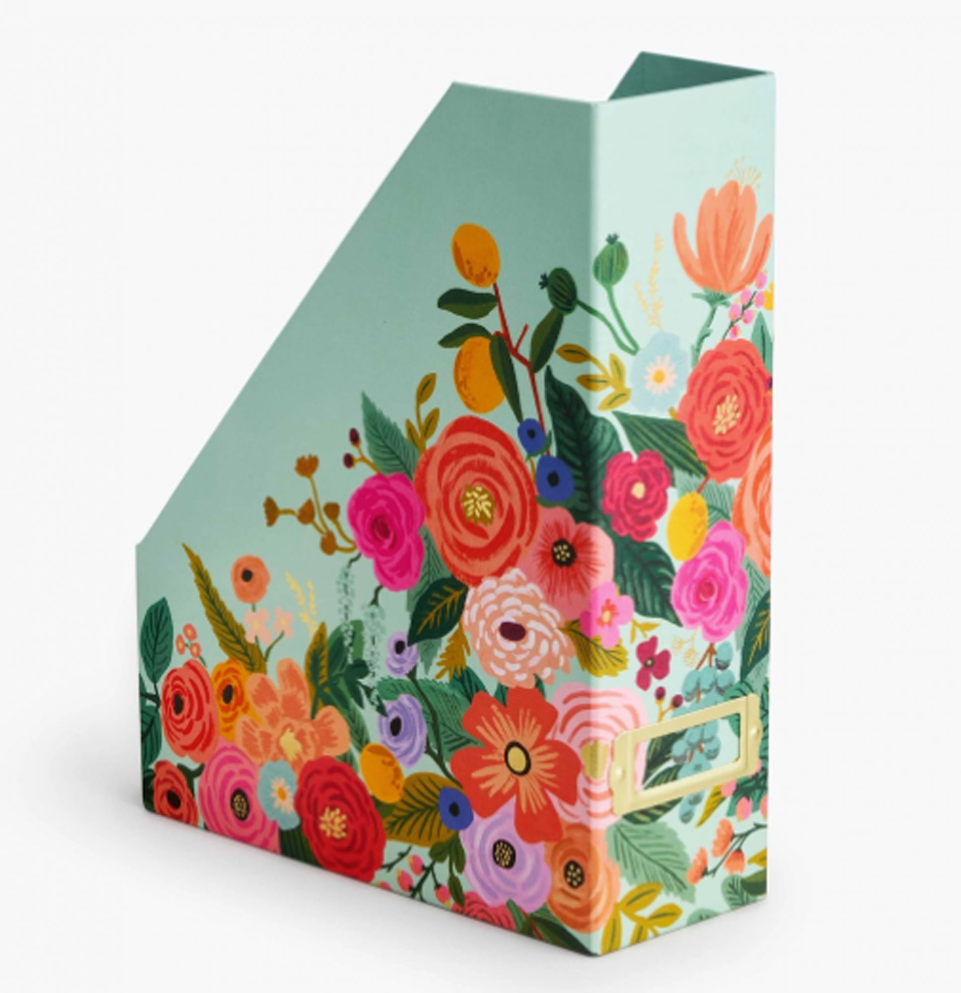 floral patterned magazine holder