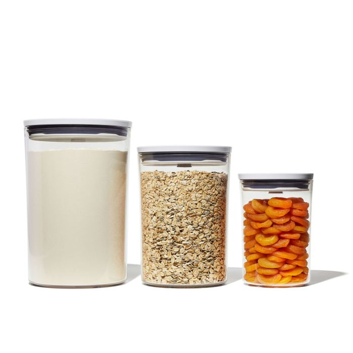 OXO three storage containers