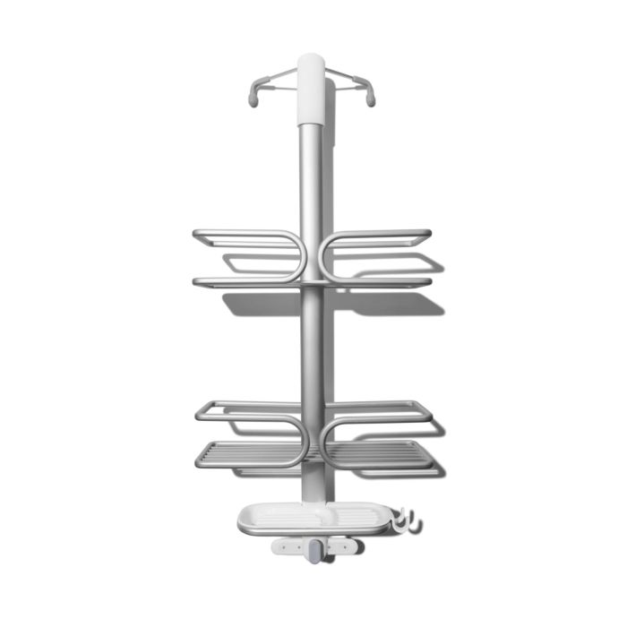 OXO aluminum shower caddy