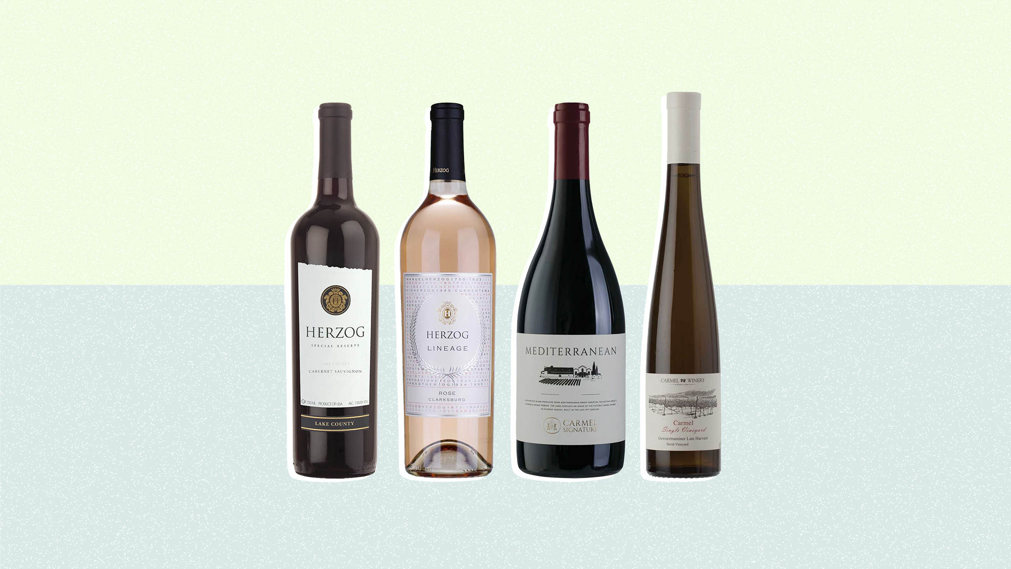 A selection of 4 kosher wines