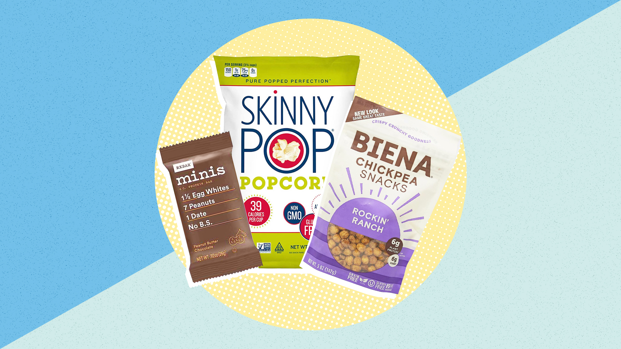 a selection of 3 healthy snacks from amazon