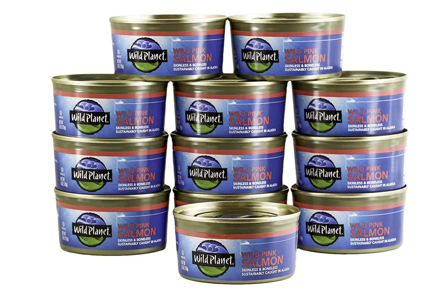 cans of wild planet salmon