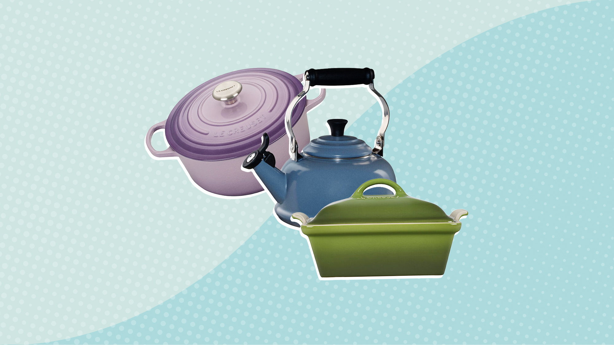 3 kitchen items from Le Creuset