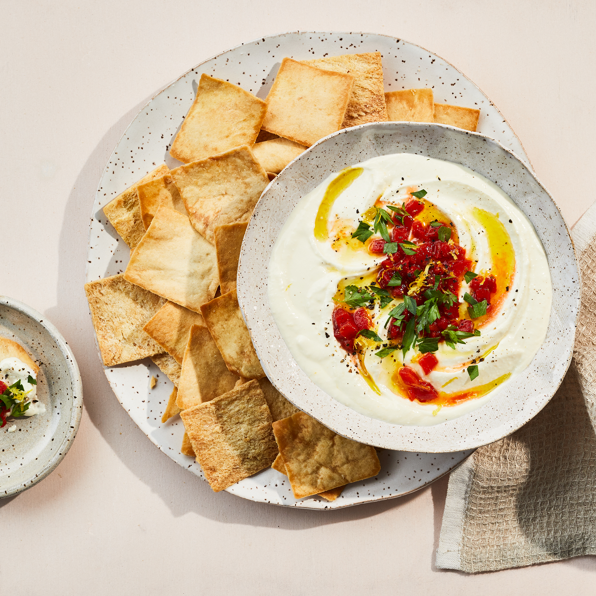 Whipped Feta Dip with Roasted Red Peppers