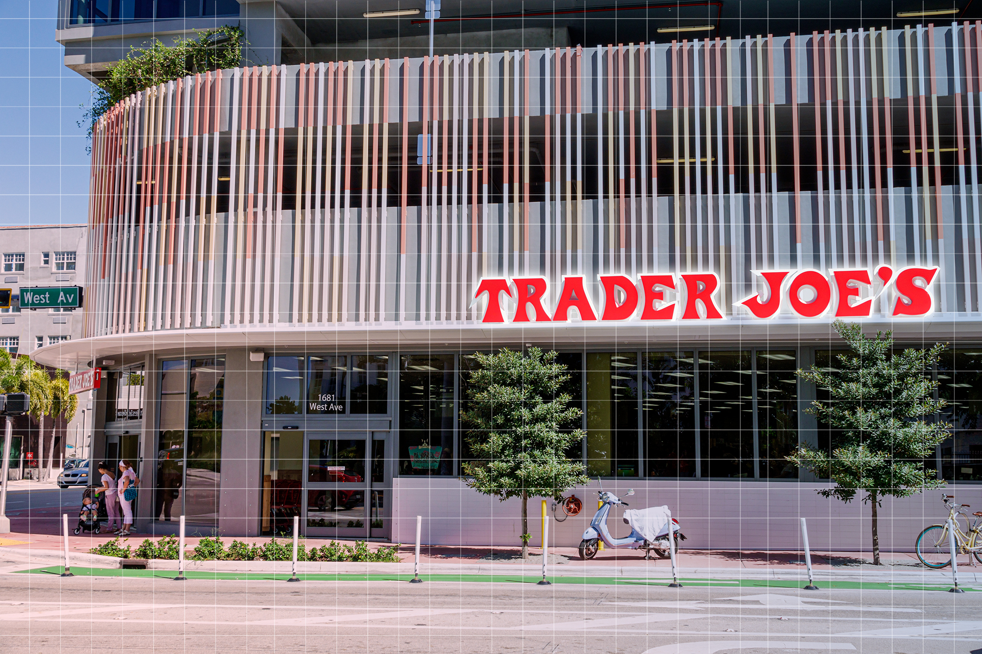 Florida, Miami Beach, Trader Joe's, grocery store exterior and entrance