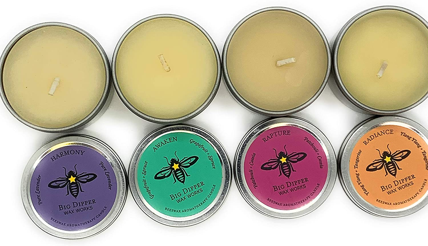 Set of Four Petite Essential Oil Natural Candles