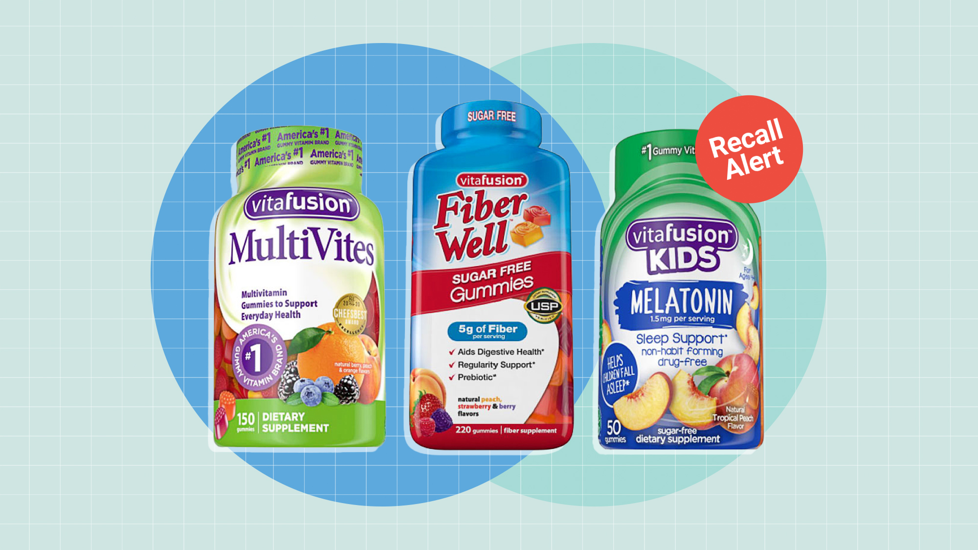3 Vitafusion products that have been recalled by the FDA