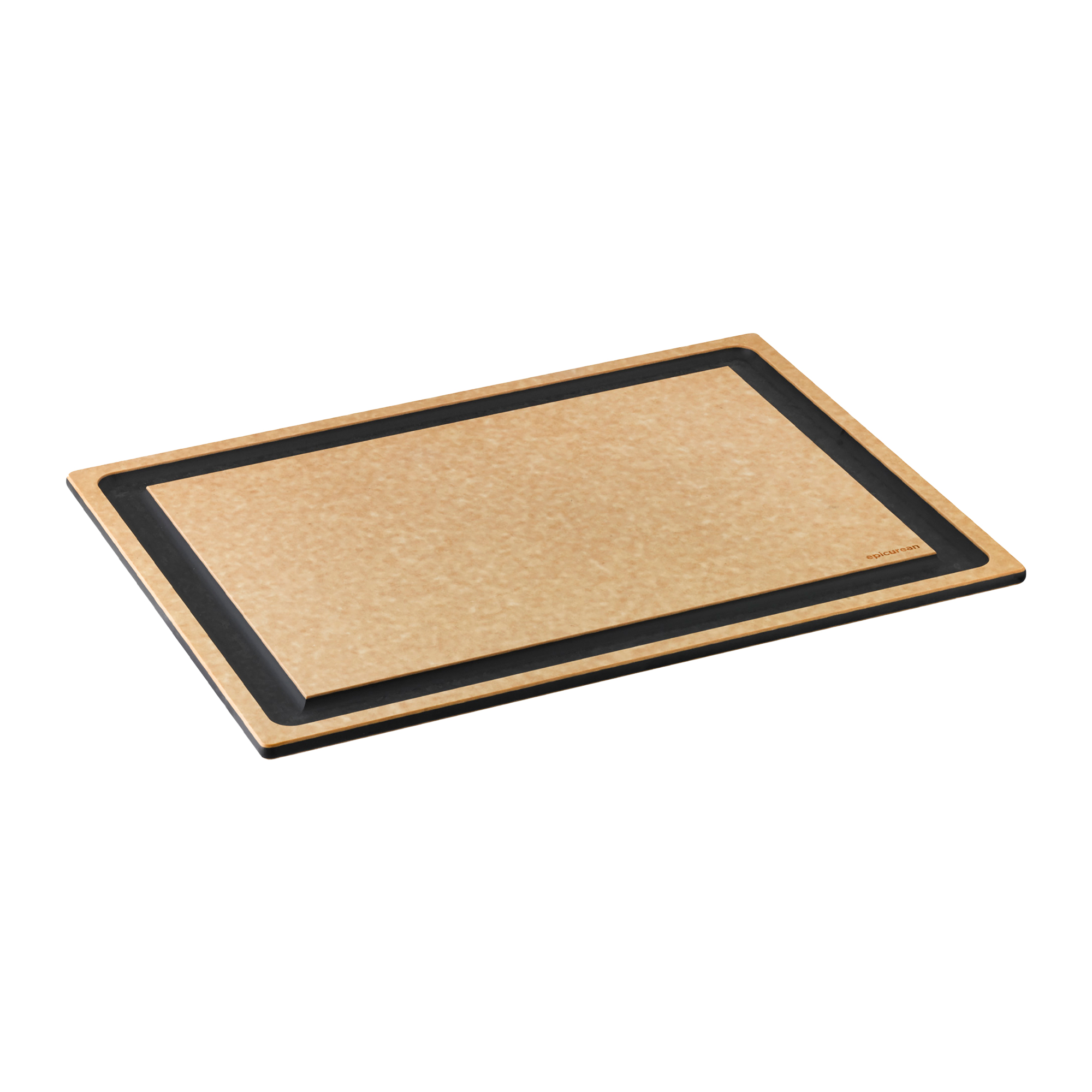 Epicurean cutting board with well natural
