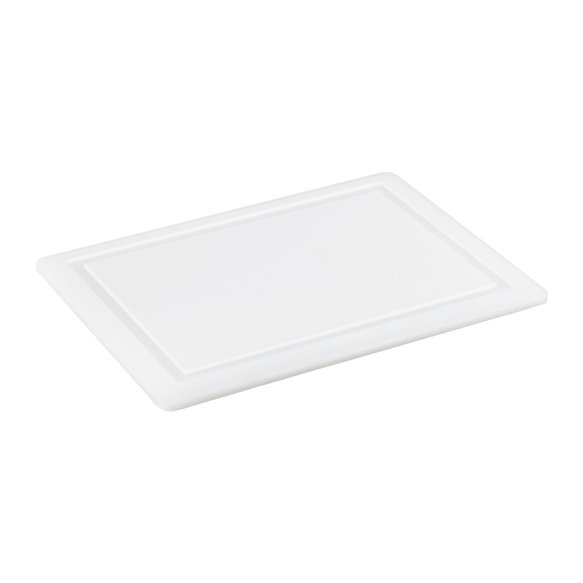 Synthetic prep cutting board with well