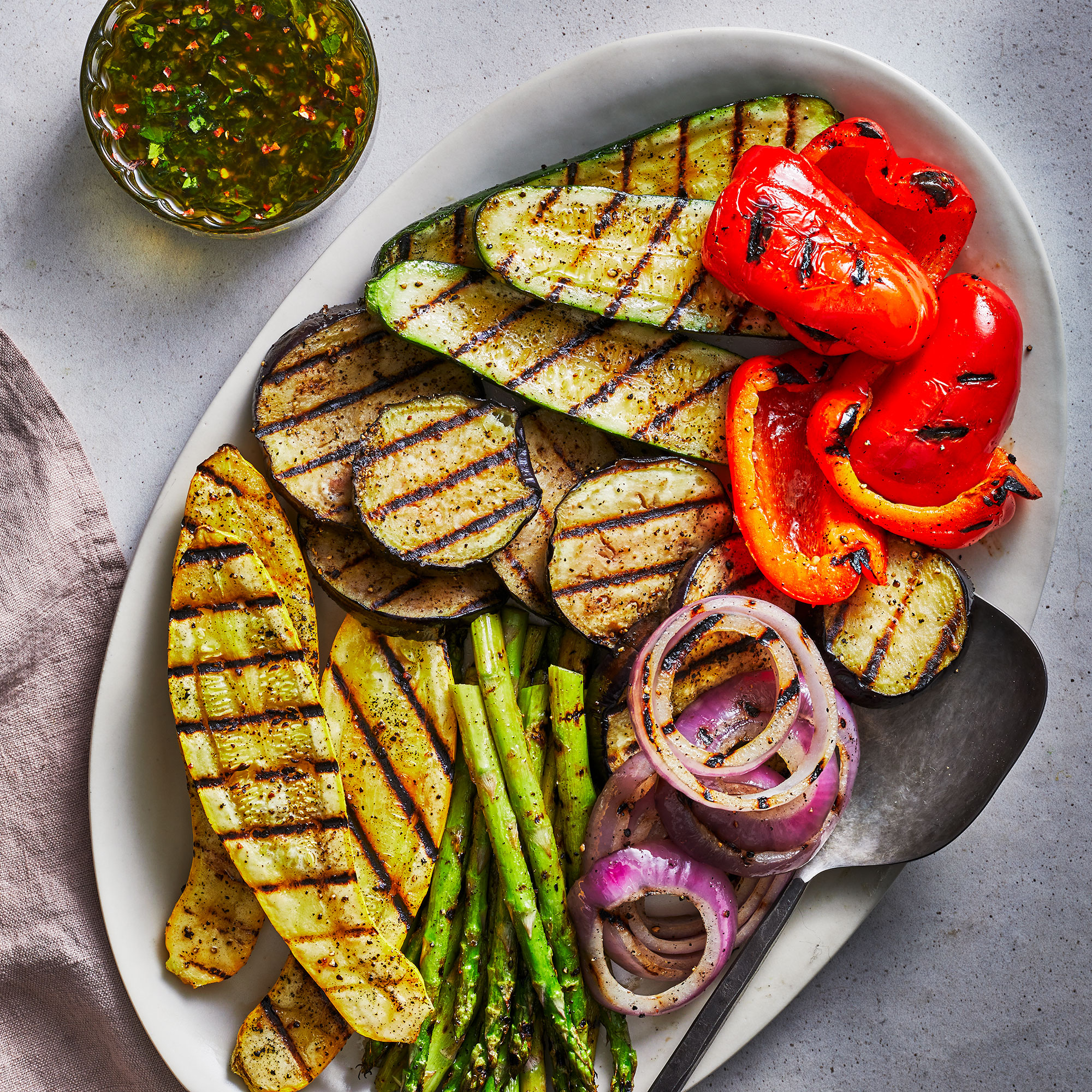 grilled summer veg
