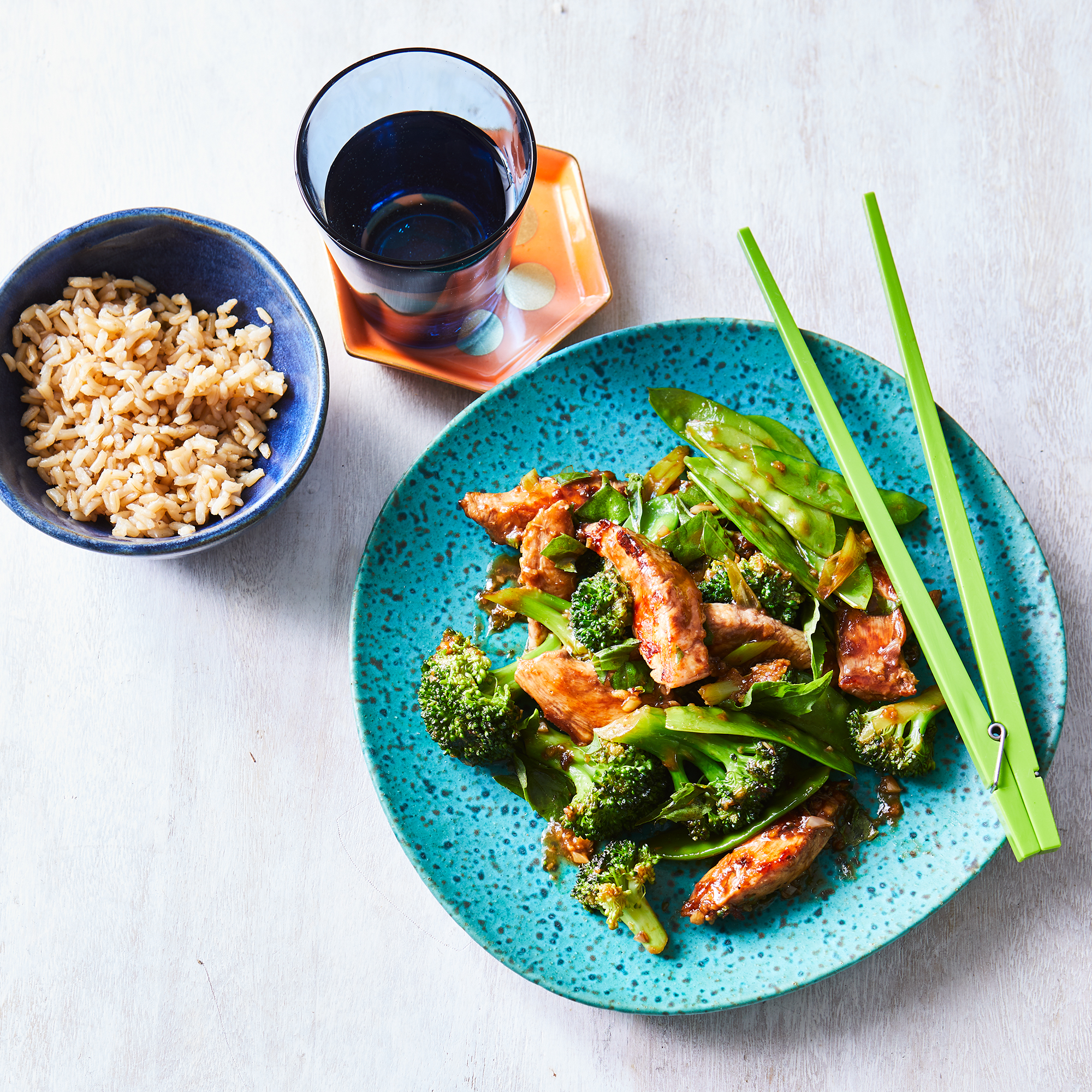 Chicken & Broccoli Stir-Fry with Ginger & Basil