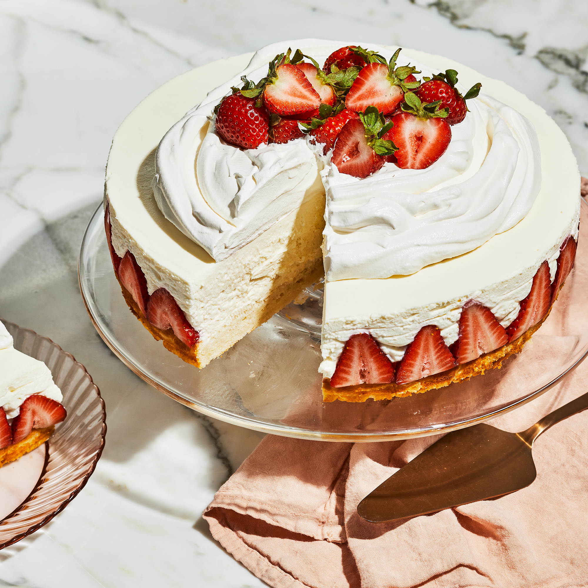 Strawberry-Shortcake Cheesecake