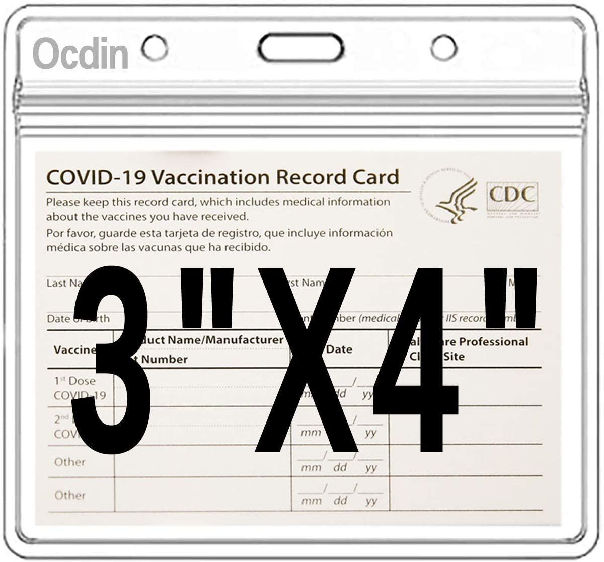 CDC Vaccination Card Protector