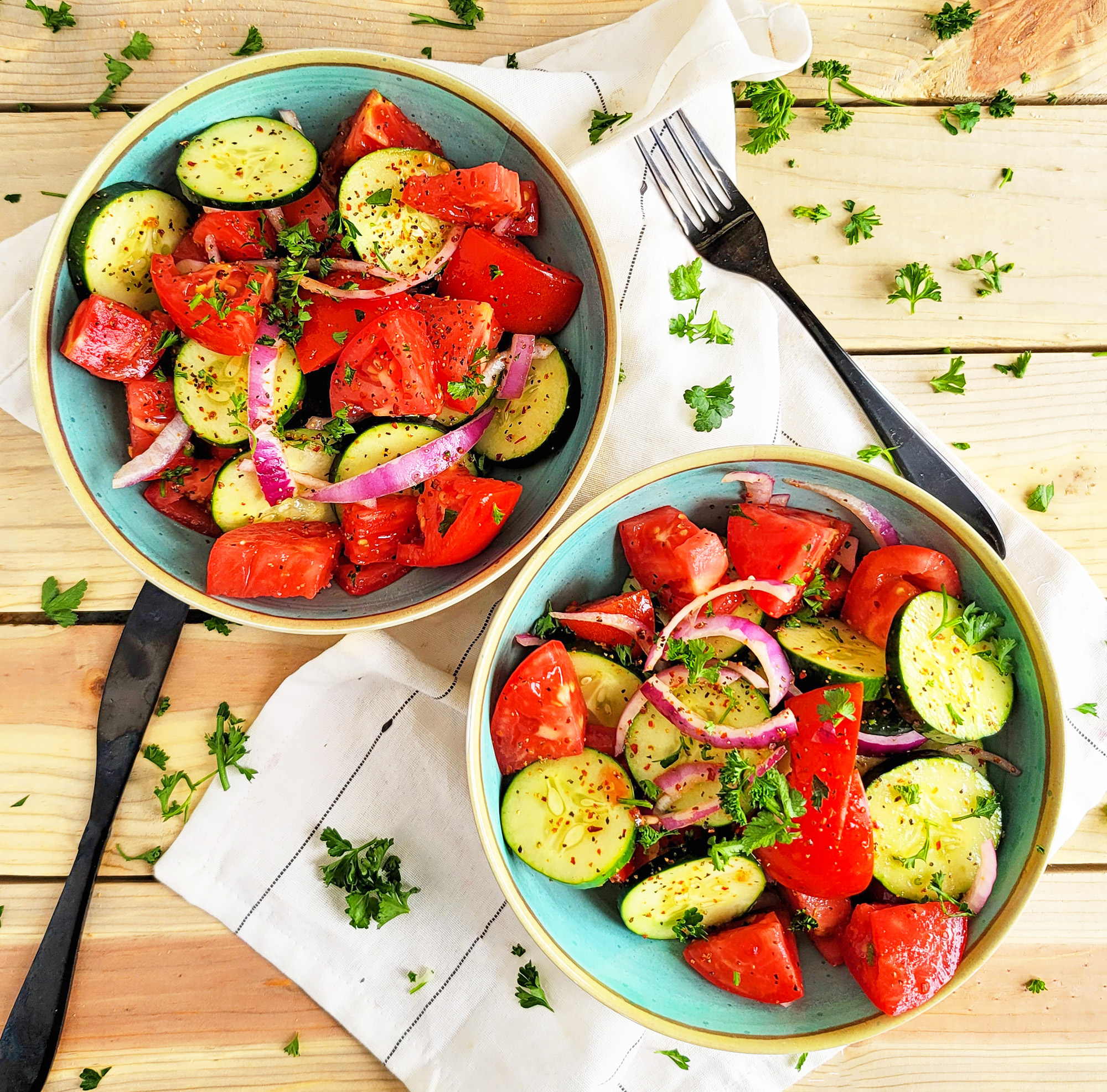 Marinated Cucumber & Tomato Salad