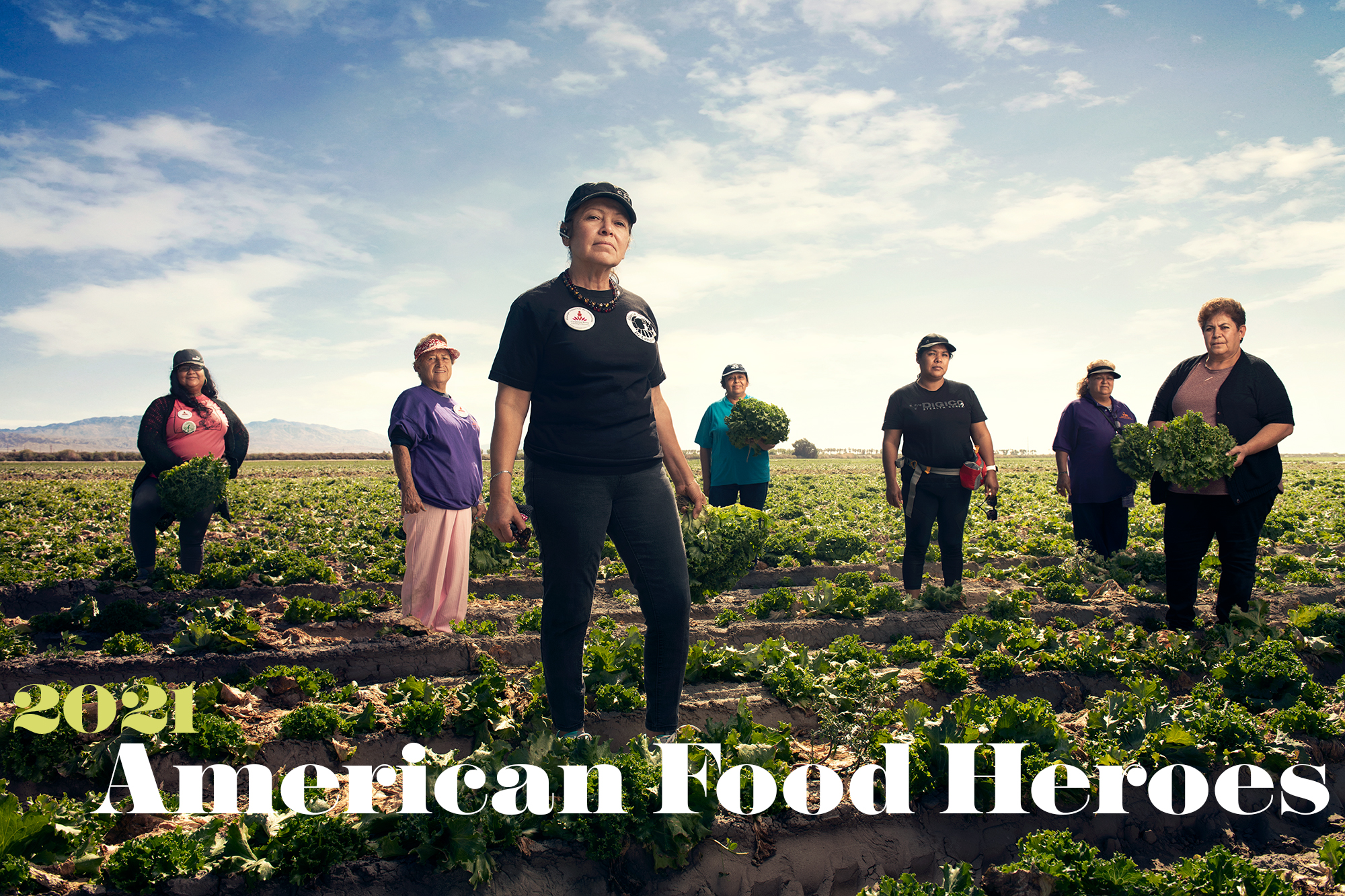 Portrait of Trevino Sauceda with 2021 American Food Heroes written in the lower portion of the frame