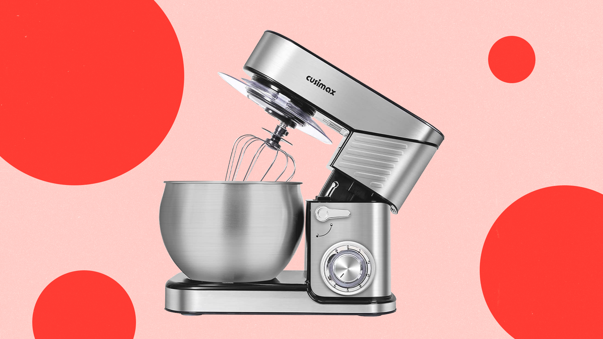 Stand Mixer, CUSIMAX 6.5-QT Stainless Steel Mixer