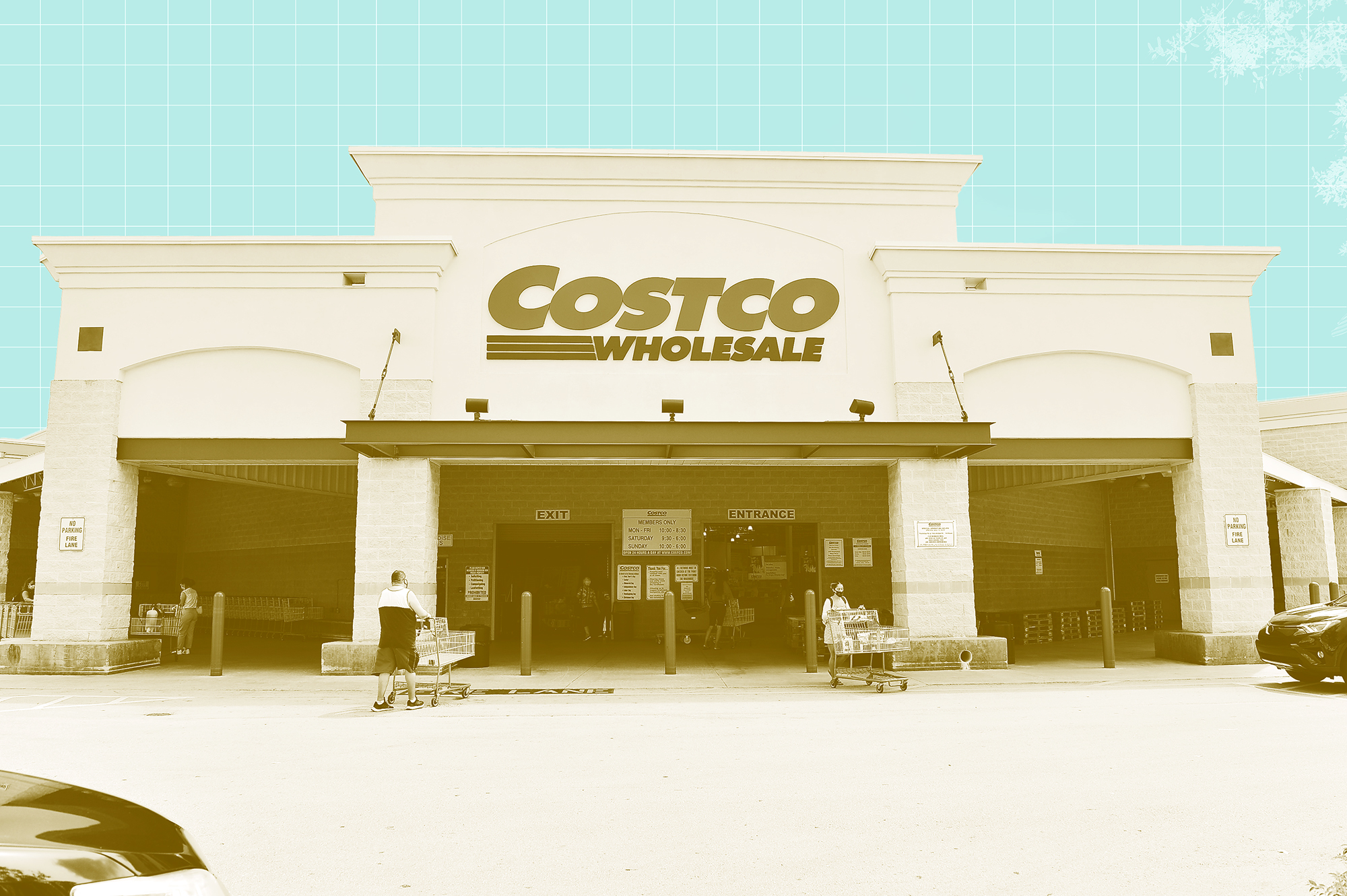 Costco Store front with a design treatment