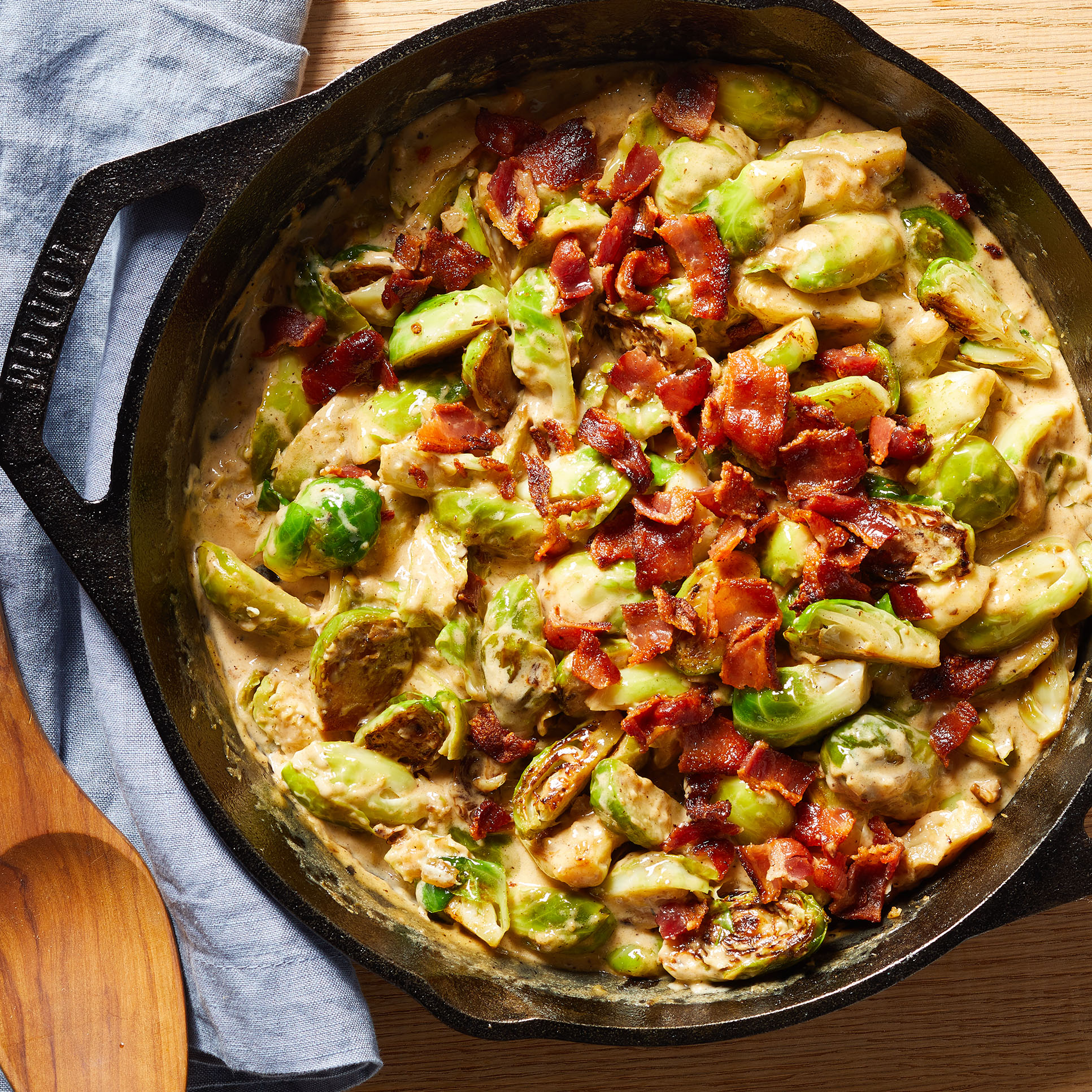 Brussels Sprouts Casserole with Bacon