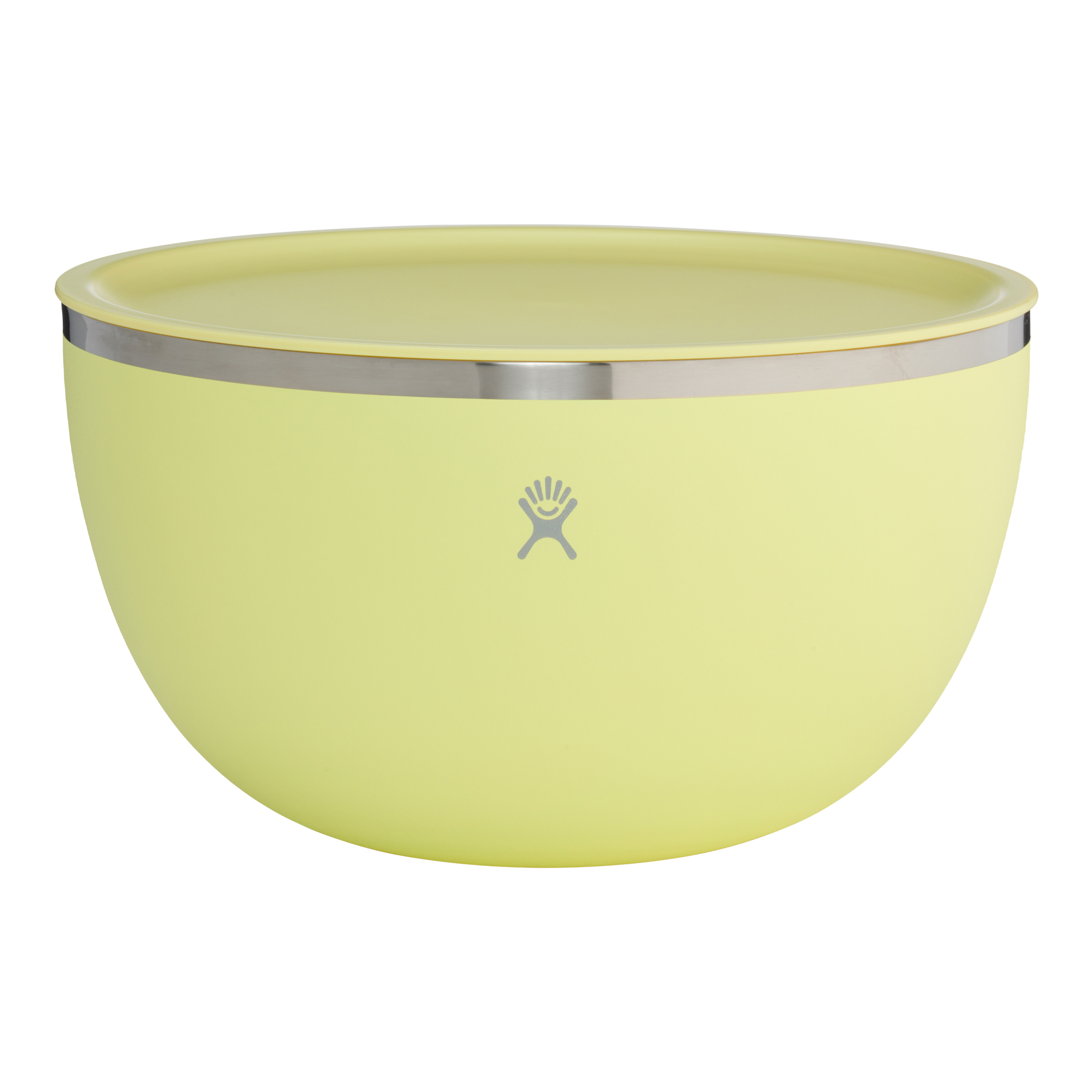 Hydro Flask - 5 Quart Bowl with Lid - yellow bowl with lid on a white background