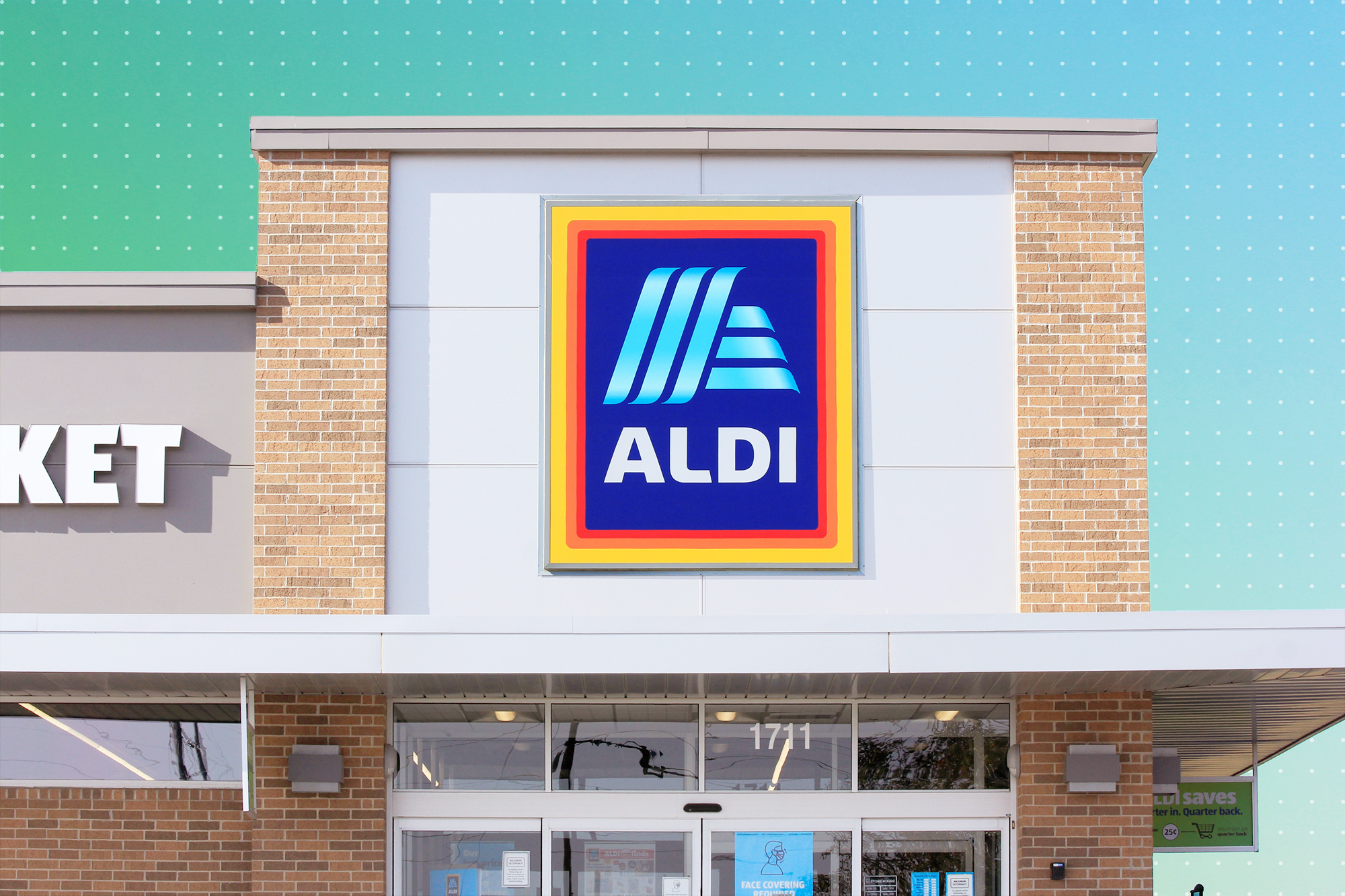 An Aldi Storefront with a treatment
