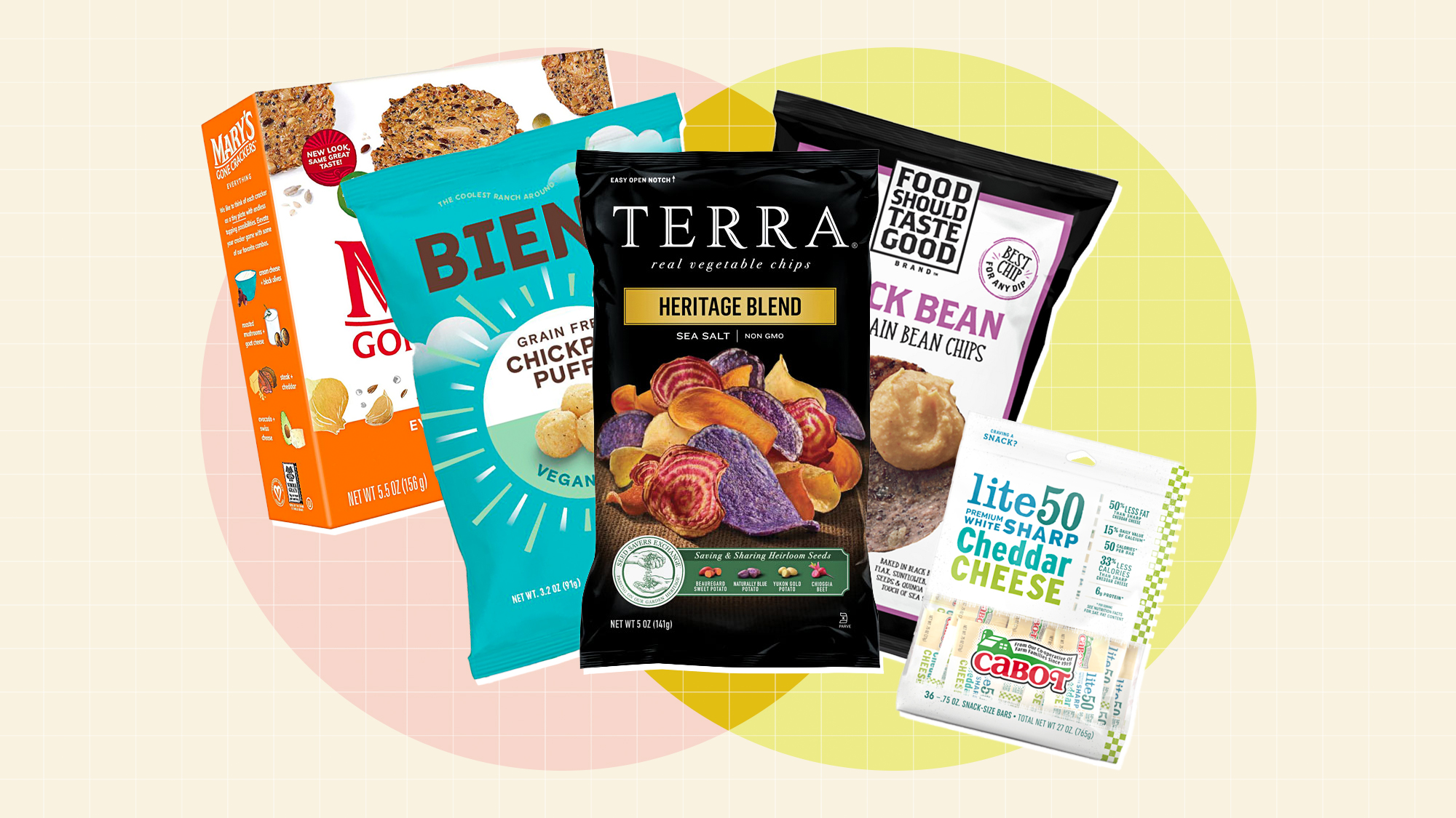 5 diabetic friendly snacks on a designed background