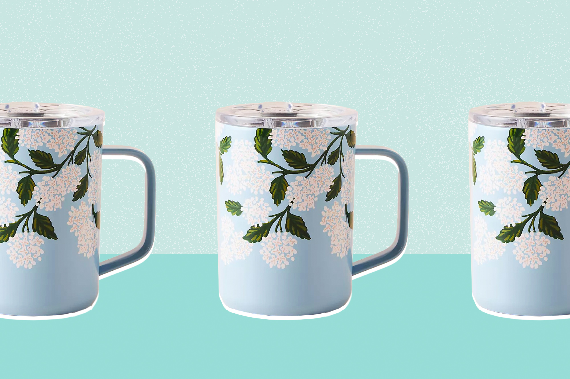 Hover your mouse over an image to zoom. Rifle Paper Co. x Corkcicle Coffee Mug on a designed background