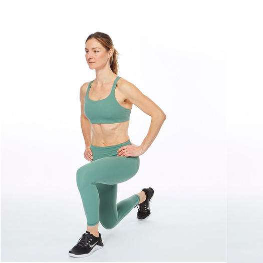 woman lunging left