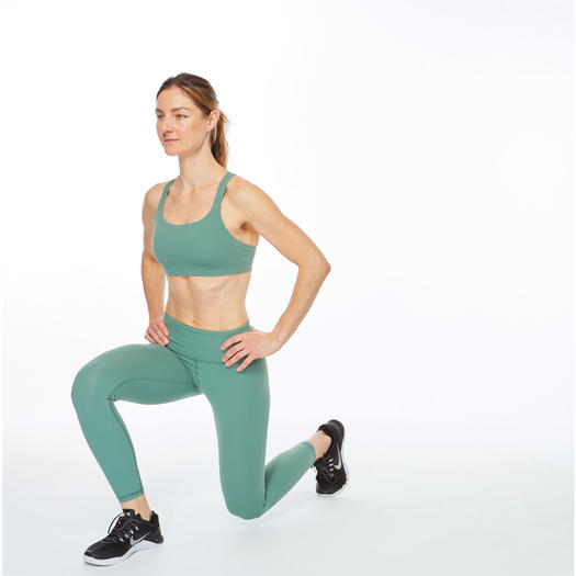 woman lunging right