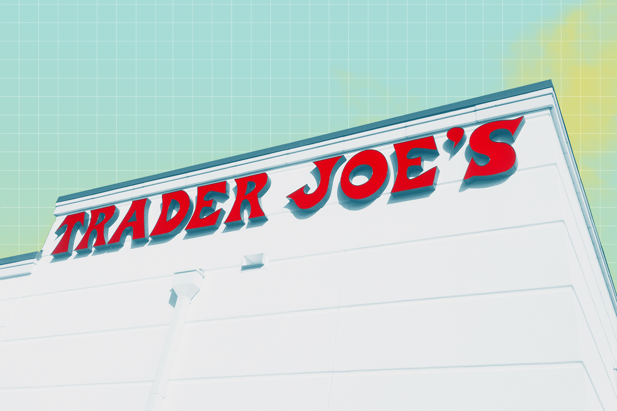 Trader Joe's sign with a treatment