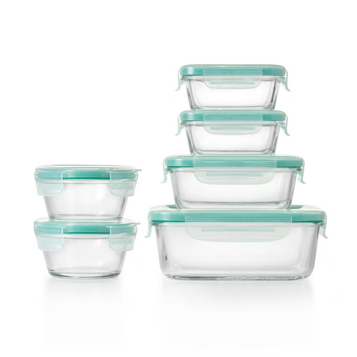 OXO Good Grips 12 Piece Smart Seal Glass Container Set