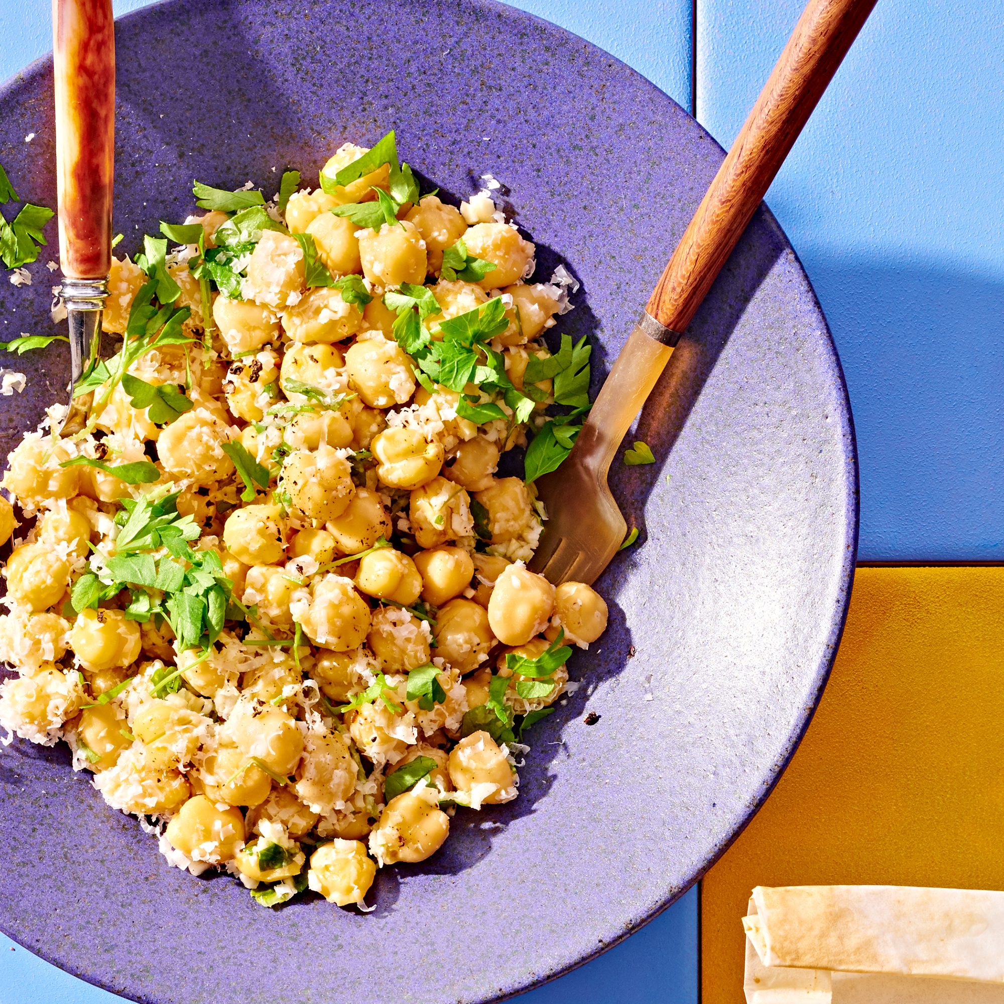 Baked Halibut & Fennel Packets with Chickpea Salad
