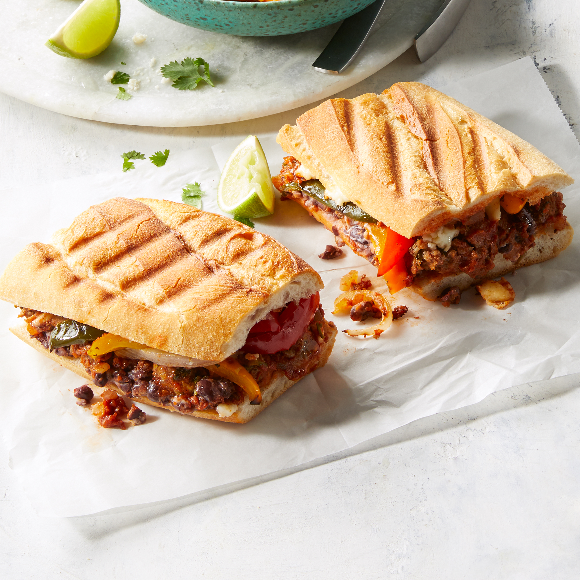 Chipotle Meatball Torta with Roasted Veggies