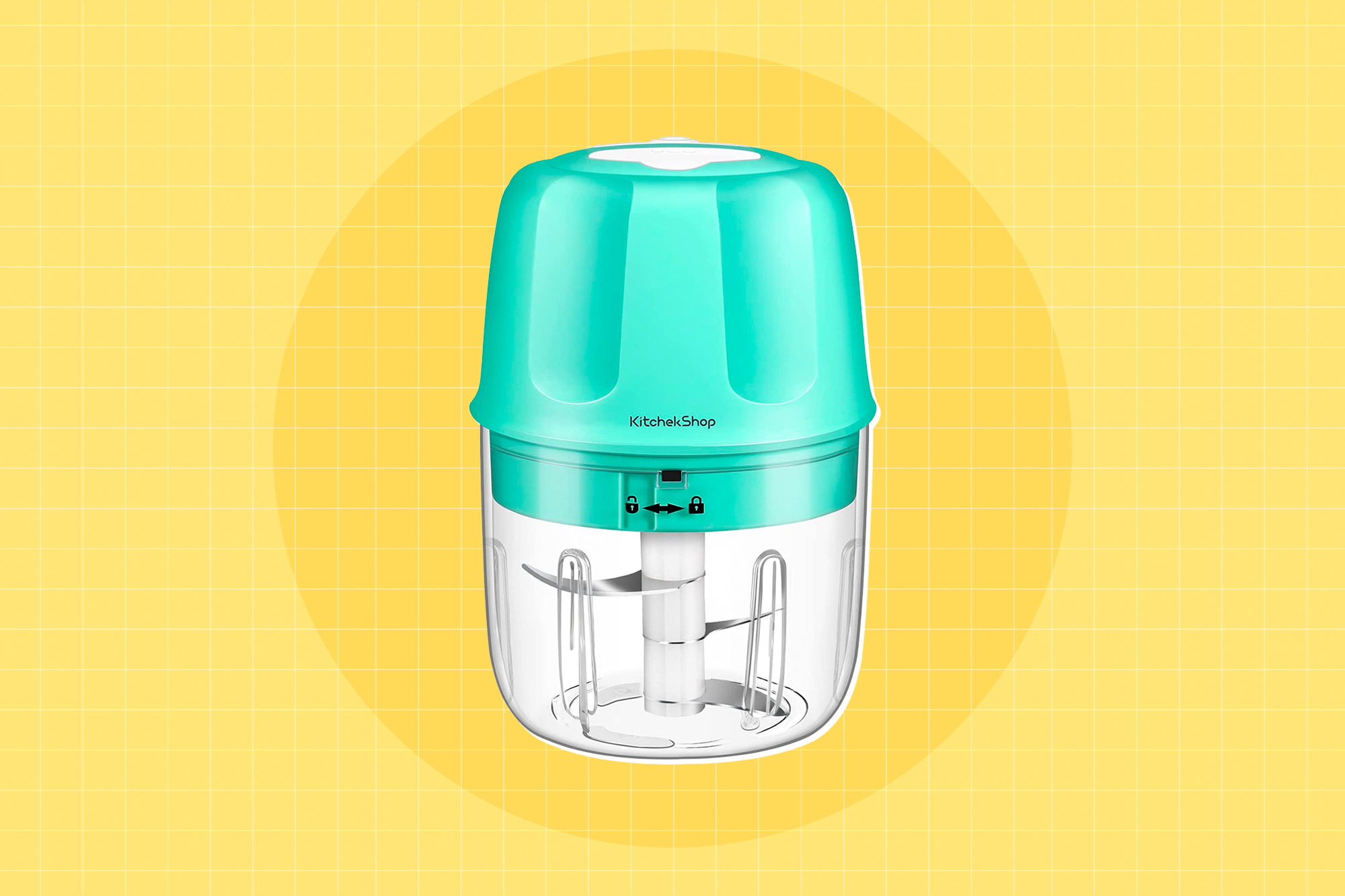 Electric Garlic Chopper, Portable Cordless Mini Food Processor, Rechargeable Vegetable Chopper Blender for Nuts Chili Onion Minced Meat and Spices