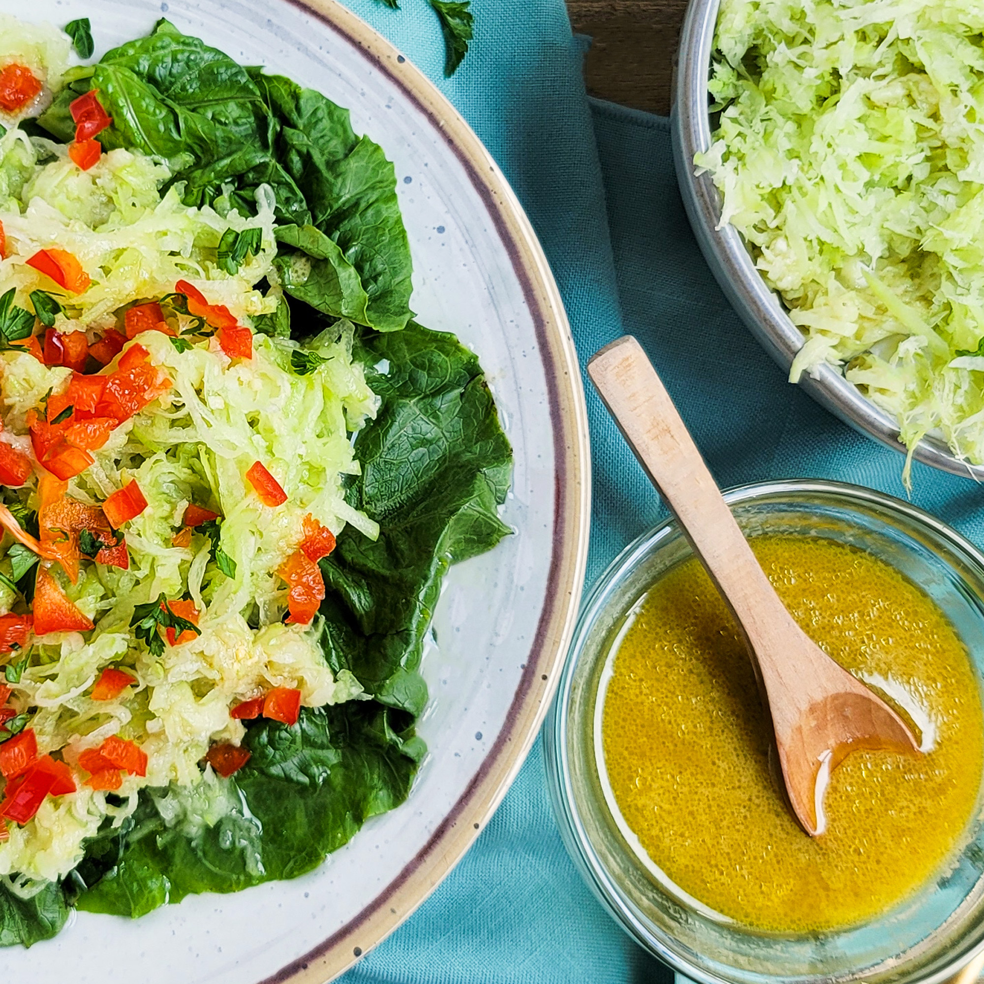 Shaved Chayote Salad from Guadeloupe for Fête de Cuisinaire