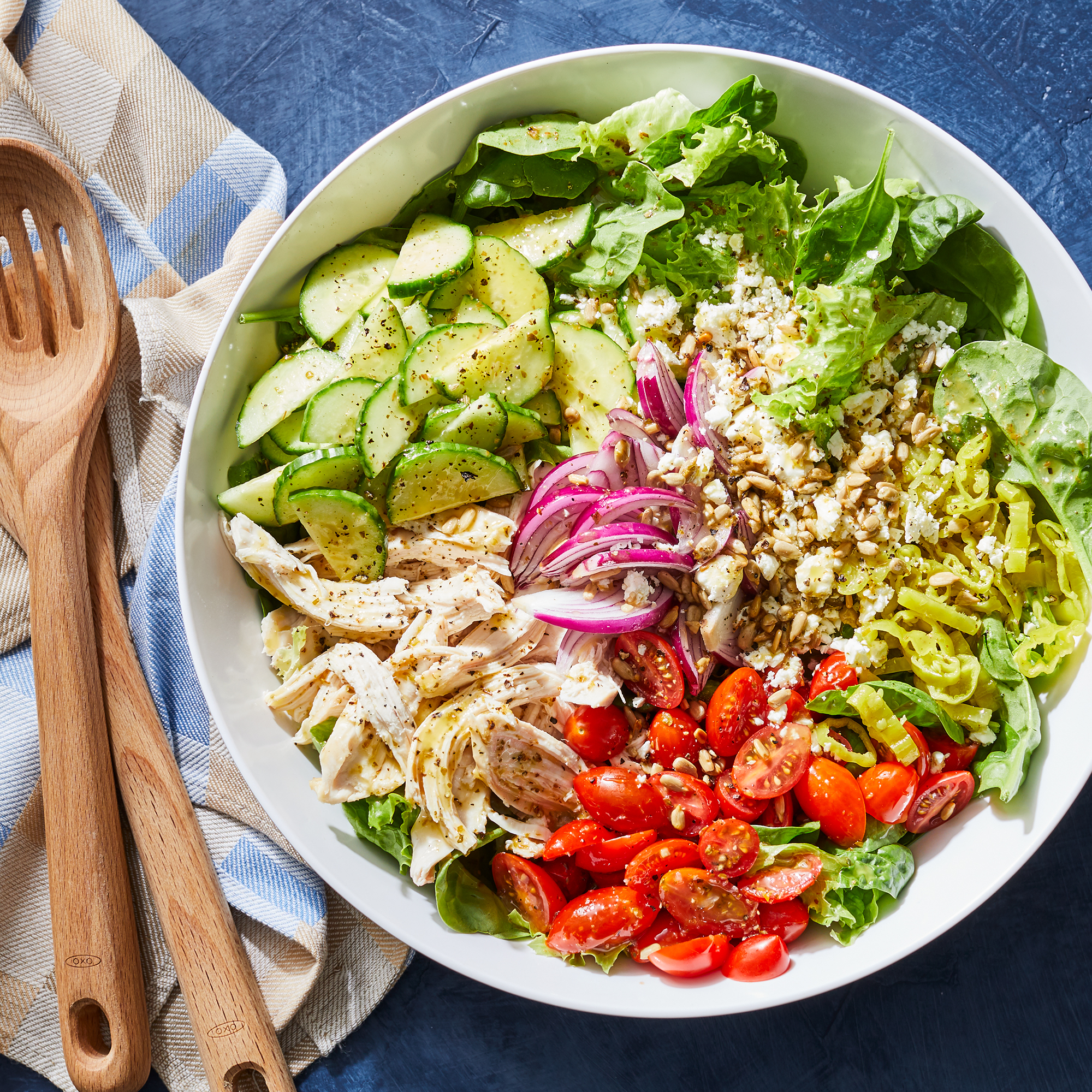 Chopped Power Salad with Chicken
