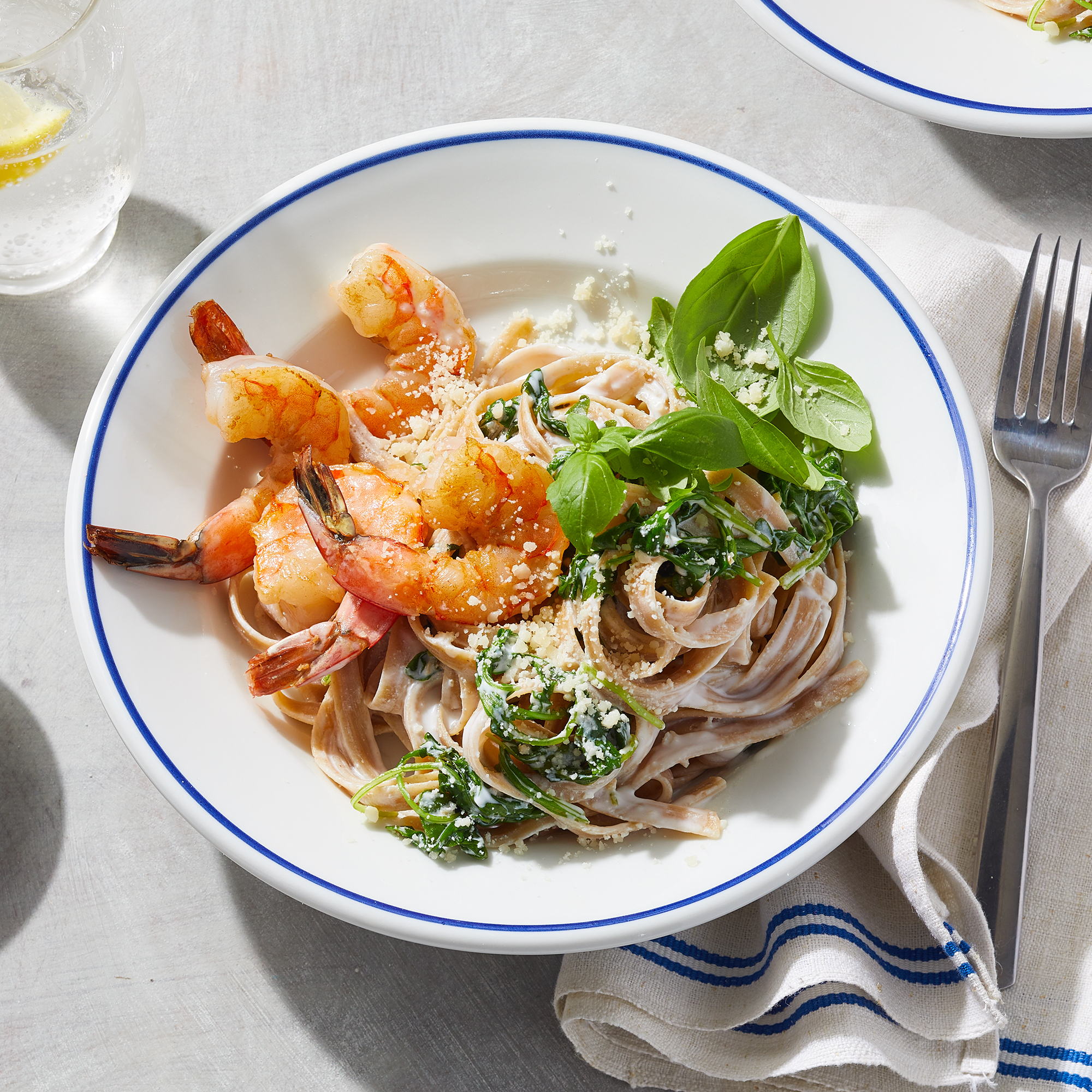 Creamy Lemon Pasta with Shrimp for Two