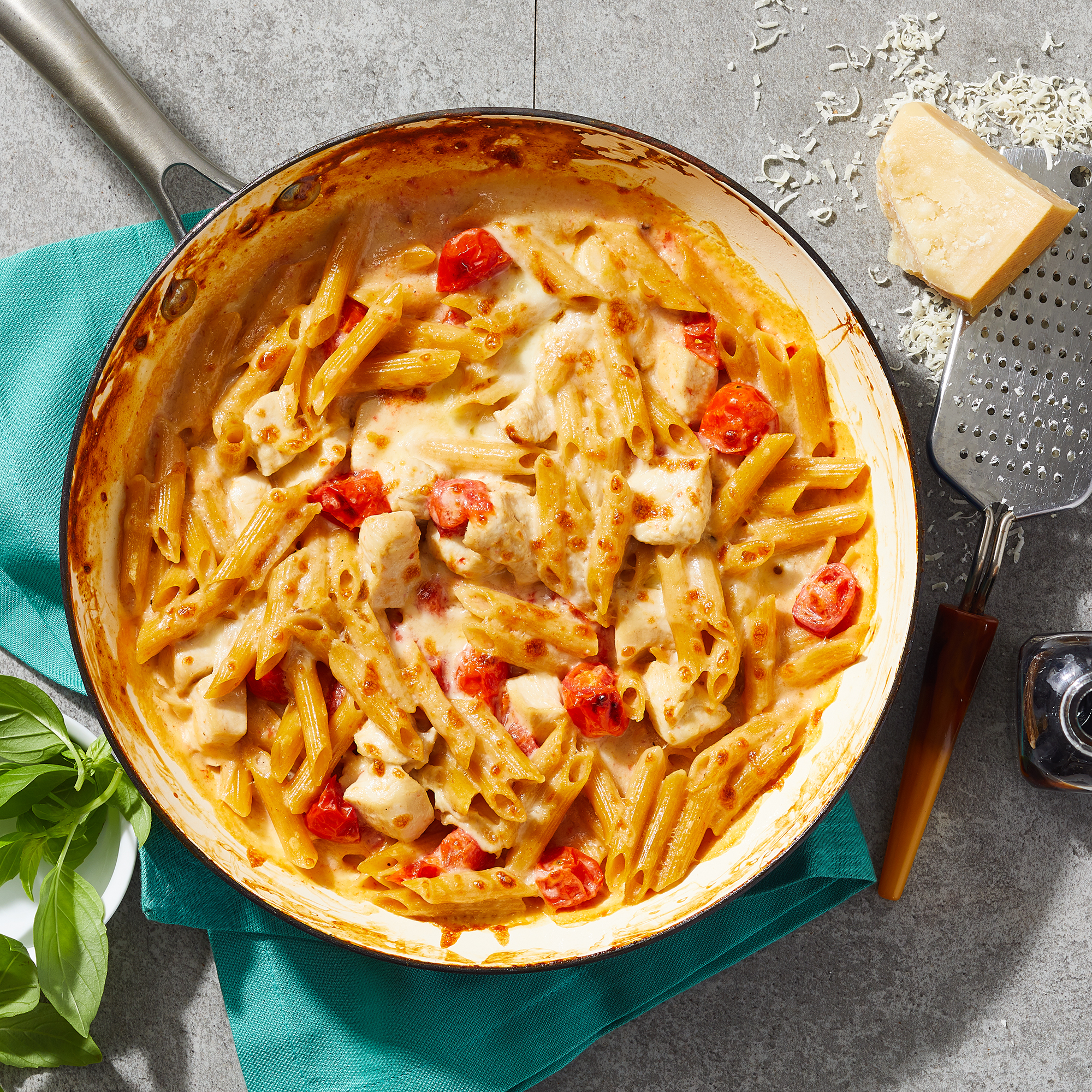 Skillet Caprese Chicken Casserole for Two