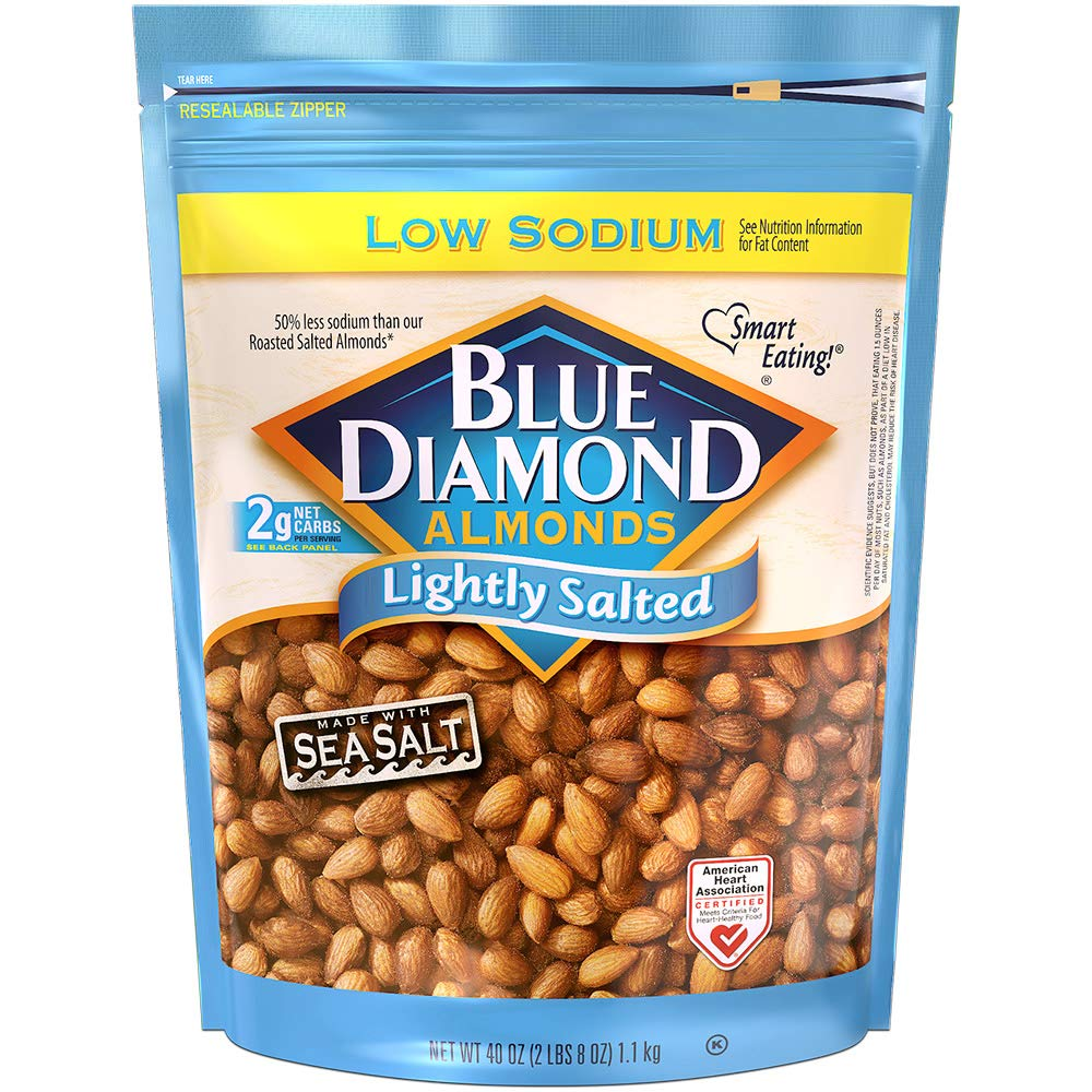 Blue Diamond Almonds Low Sodium Lightly Salted Snack Nuts