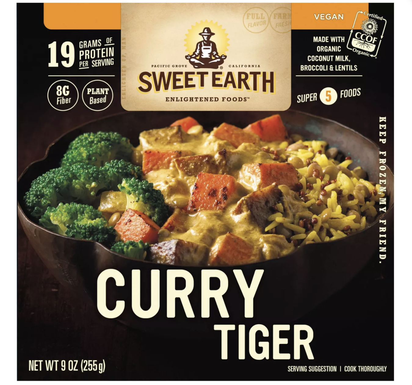 Sweet Earth Vegan Frozen Natural Foods Curry Tiger