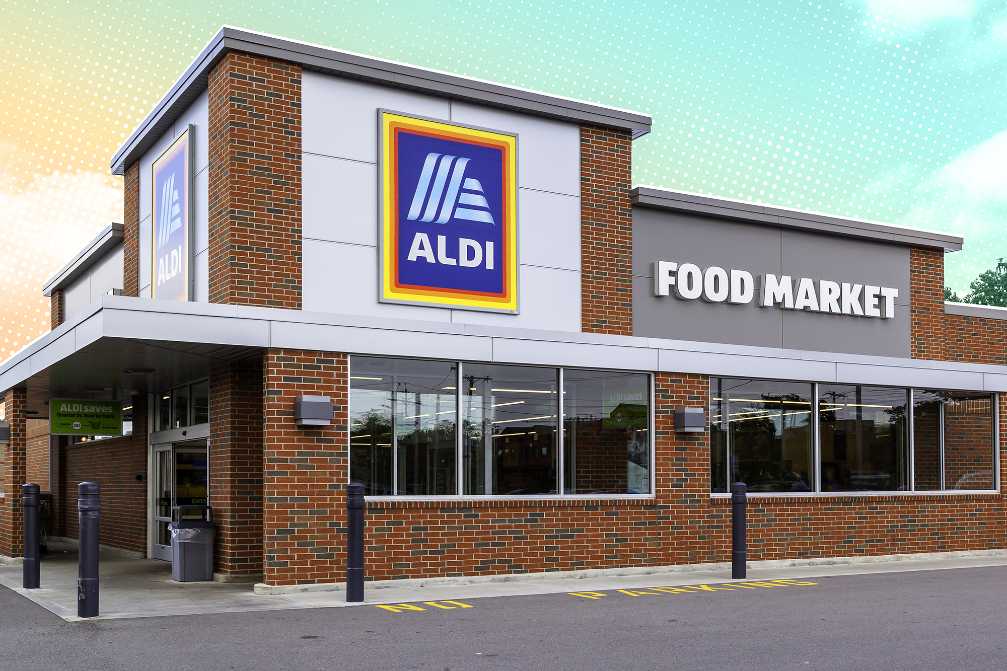 Aldi Storefront with a treatment