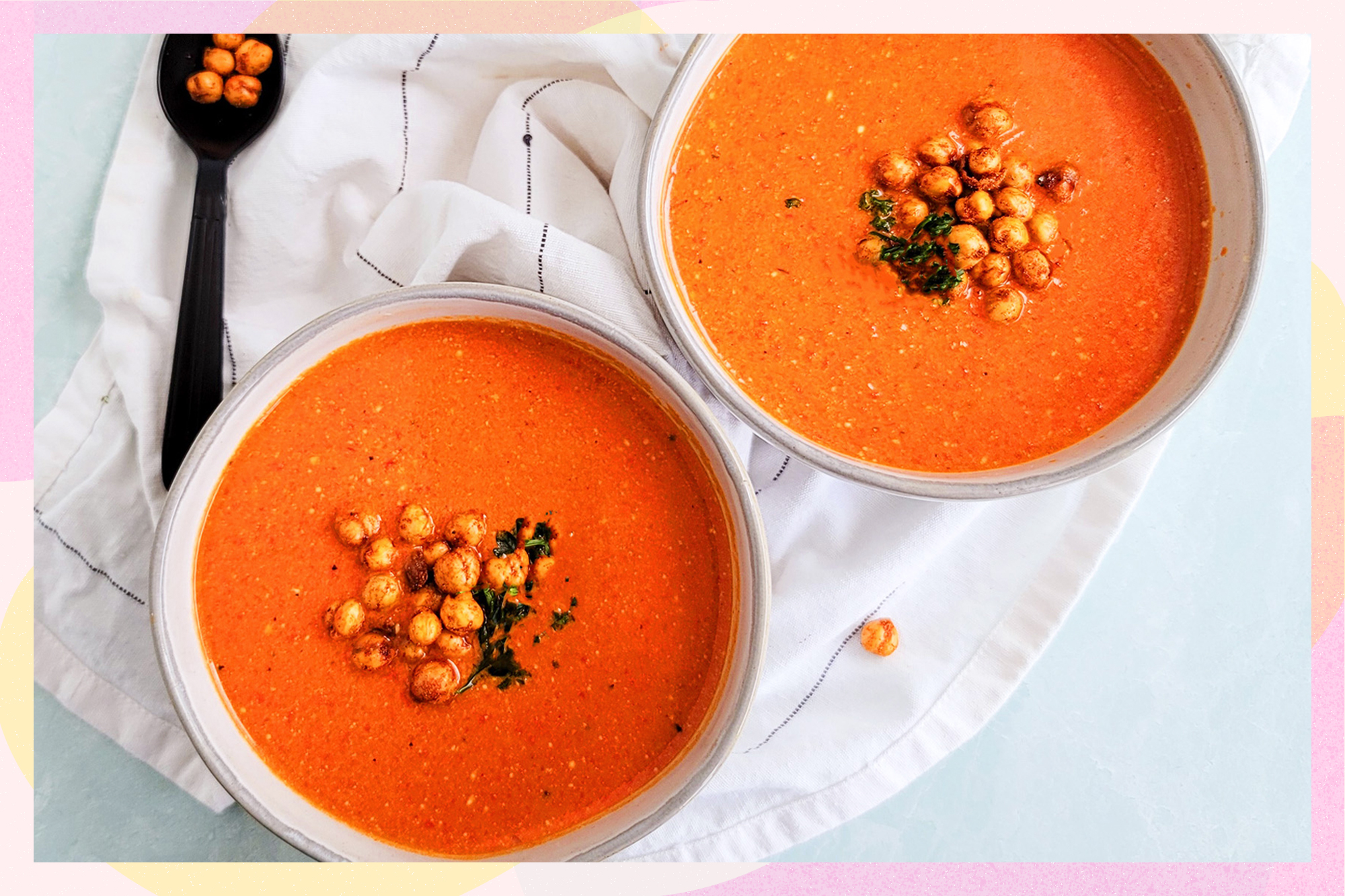 creamy roasted red pepper peanut soup