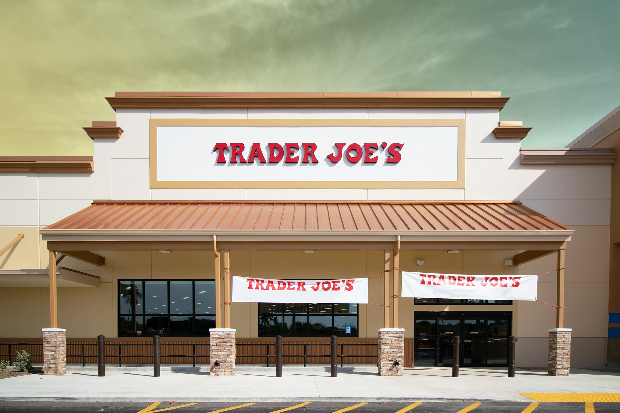 Trader Joe's storefront with a designed treatment